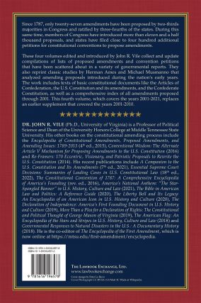 Proposed Amendments to the U.S. Constitution 2001-2021 Supplement Vol.