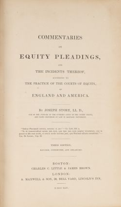 Commentaries on Equity Pleadings, And the Incidents Thereof...