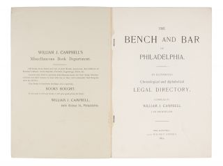 The Bench and Bar of Philadelphia, An Illustrated Chronological...