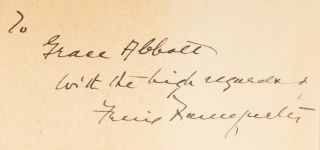 The Labor Injunction, Inscribed by Frankfurter to Grace Abbott.