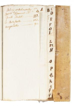 Legal Formulary, Italy, c 1650, Text in Latin and Italian.