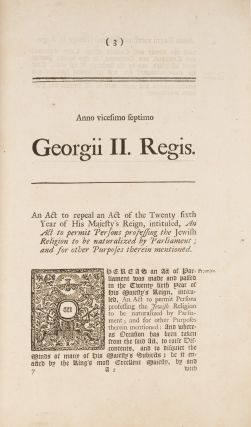 An Act to Permit Persons Professing the Jewish Religion, To Be...