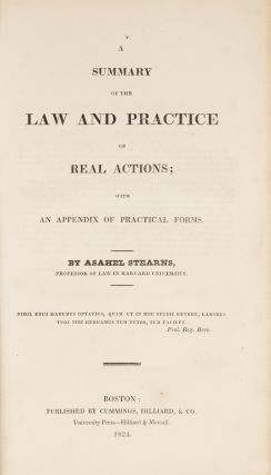 A Summary of the Law and Practice of Real Actions; With an Appendix...