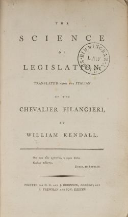 The Science of Legislation. Translated from the Italian...