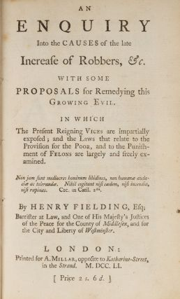 An Enquiry Into The Causes Of The Late Increase Of Robbers, &C...