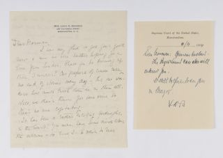 Collection of Nine Items Relating to Brandeis, Civil Rights and...
