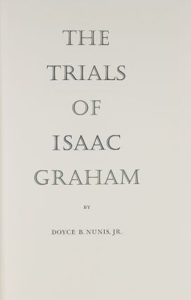 The Trials of Isaac Graham