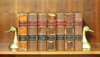 A Digest of the Reported Decisions. 1884. 7 Vols. [Mews Digest]. John Mews