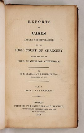 Reports of Cases...in the High Court of Chancery