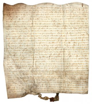 Marriage Contract, York, England, 1345, in Anglo-Norman.